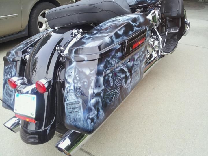 Gallery of Custom Motorcycles Painted | Bad Ass Paint - Custom Motorcycle Paint Jobs