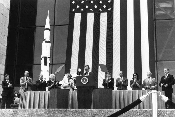 President George Bush and Apollo 11 Astronauts