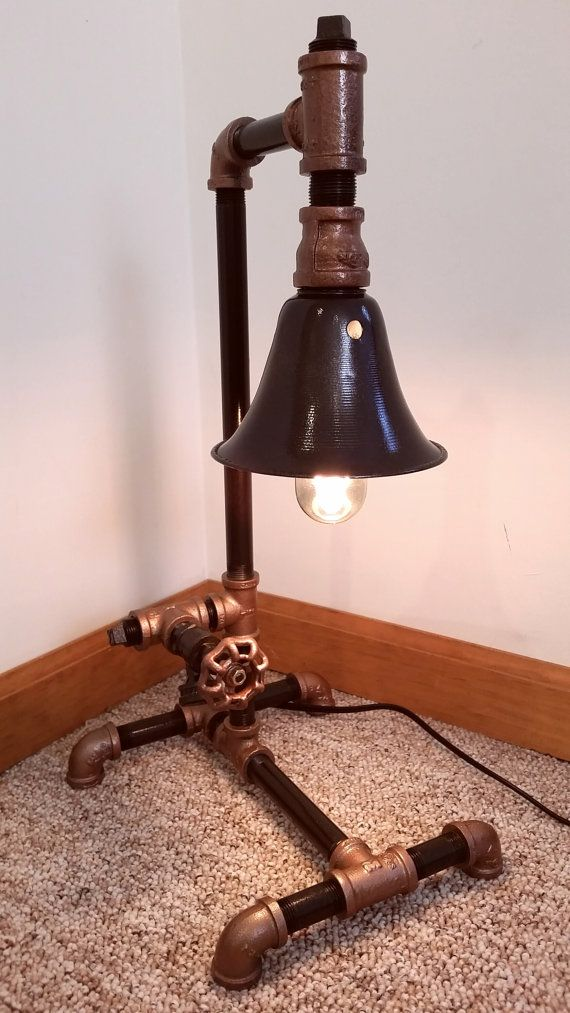 etsy industrial lighting. steampunk industrial pipe desk lamp by ironpipeart on etsy lighting