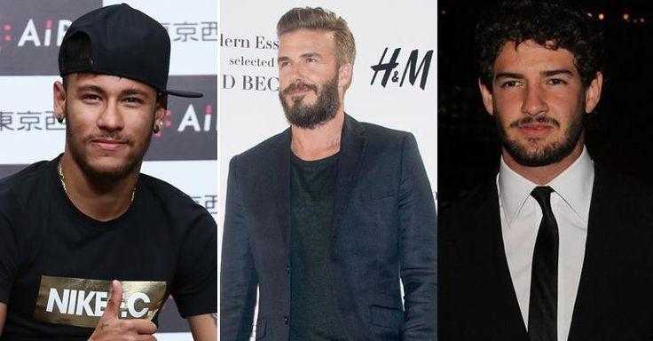 Neymar e Alexandre Pato parabenizam David Beckham pelo seu aniversário