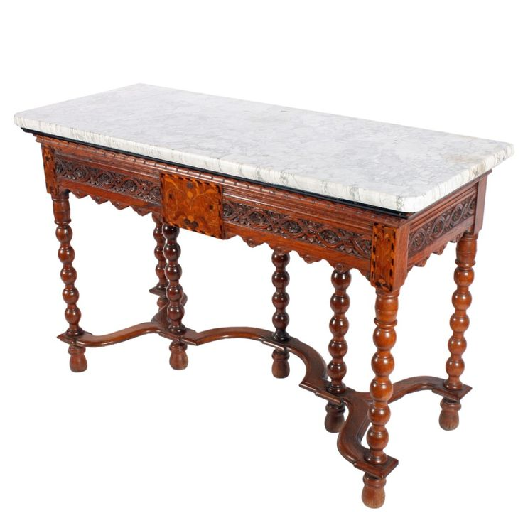 Italian Marble Top Console Table. Antique ...