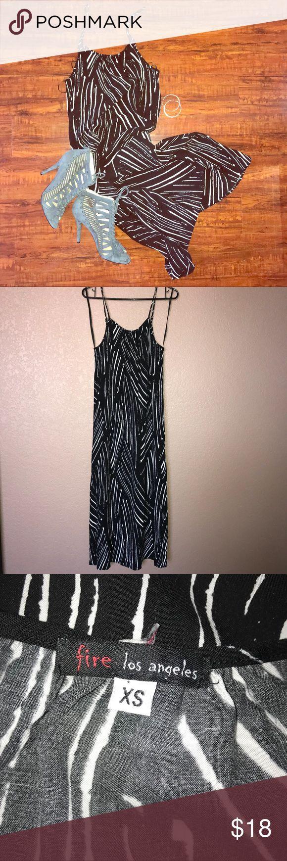 🆕 Fire Los Angeles tribal maxi dress Fire Los Angeles tribal maxi dress/ NWOT/ size: XS/ adjustable spaghetti straps Fire Los Angeles Dresses Midi