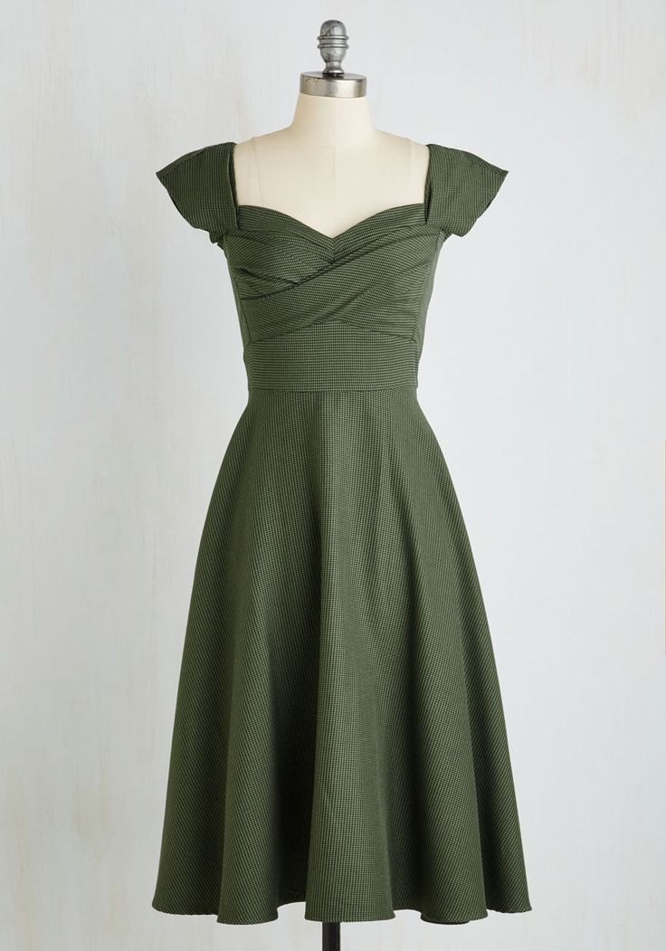 Pine All Mine Midi Dress in Evergreen. Bring the beauty of the coniferous forest to your wardrobe with this retro dress by Stop Staring! #green #modcloth