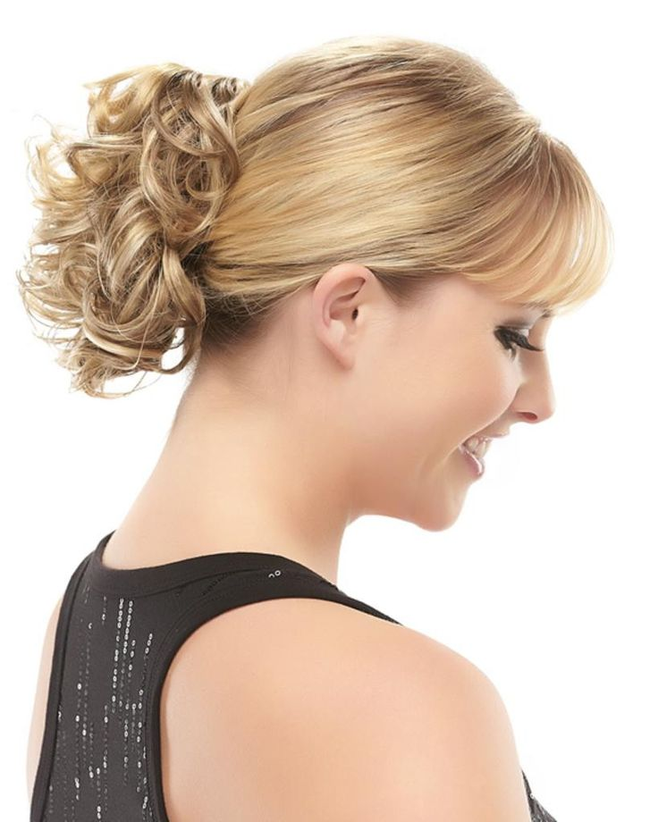 Classy ponytail short curly claw clip attachment by