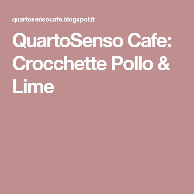 QuartoSenso Cafe: Crocchette Pollo & Lime