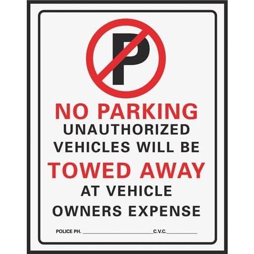 Hyko Prod. 15X19 No Parking Sign 702 Unit: Each, Black