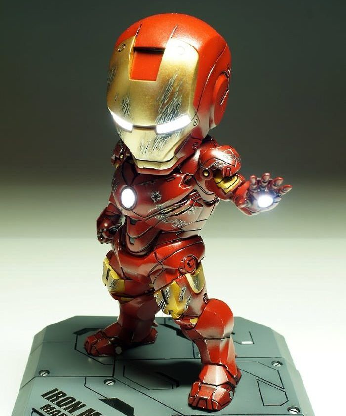 Mini iron man qu les parece para geeks pinterest - Mini iron man ...