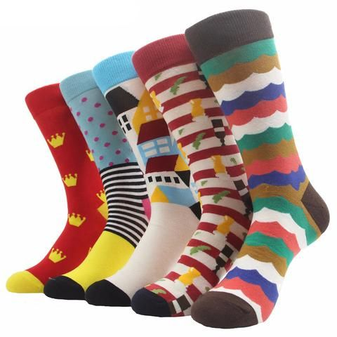 Multicolor, Multipattern Comfortable Dress Socks (18 options)