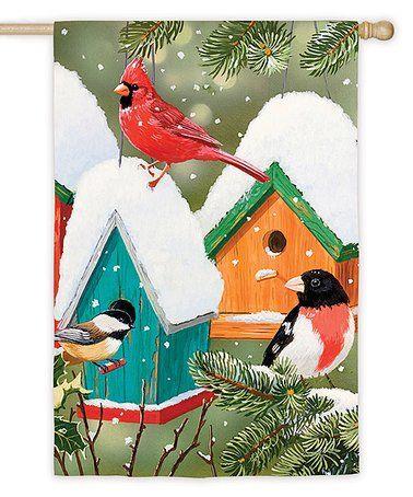 Love this Winter Birds Outdoor Flag on #zulily! #zulilyfinds