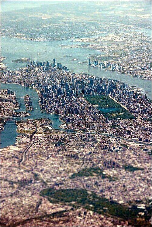 Bird's eye view over #NewYork City