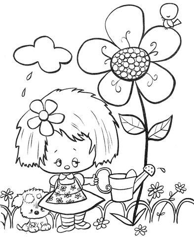 desenhos-colorir-menina-molhando-as-flores