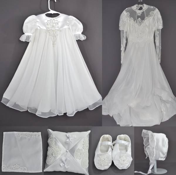 Wedding Dress To Christening Gown: Mom And Daughter Turn Their Wedding Gowns Into Christening