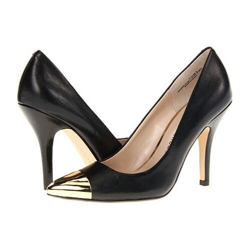 Danger Zone Heel | 27 Boutique The Danger Zone from Chinese Laundry. A classic black heel with a gold capped toe - truly a shoe that will never go out of style!