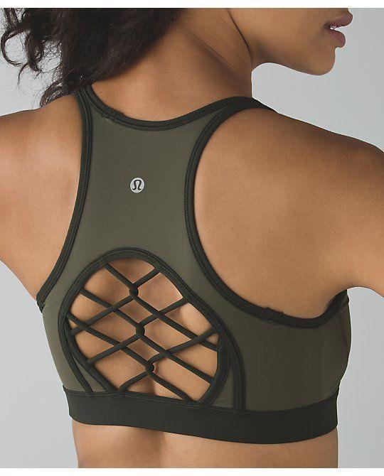 Lululemon Sweaty Or Not Bra II Size 4 Fatigue Green NWT Supportive #Lululemon #SportsBrasBraTops