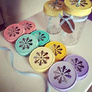 Coloured Mason Jar Lid Daisy Cut Single Pack $7.50 #sweetcreations #baby #toddlers #kids #feeding #feedme