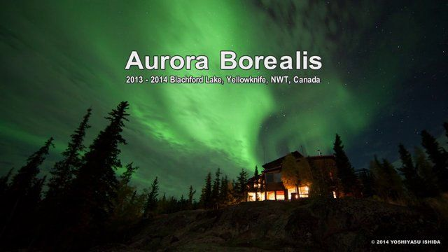 spectacular Aurora Borealis in many colors spreading all over the sky. .. the wonderful Northern Lights at Blachford Lake Lodge,, Canada Here is a short-timelapse movie being composed of Mother Nature, so many stars, and Auroras in autumn season at Blachford Lake.