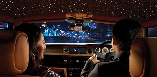 Rolls-Royce offers the Starlight Headliner, a factory-installed option available on both the Phantom Coupe and Sedan. This feature turns the roof of car Phantom Coupe and Sedan into a panoramic starry night.
