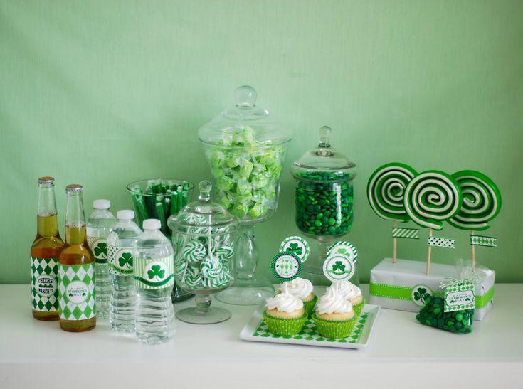 St. Patrick's Day Party Dessert Bar