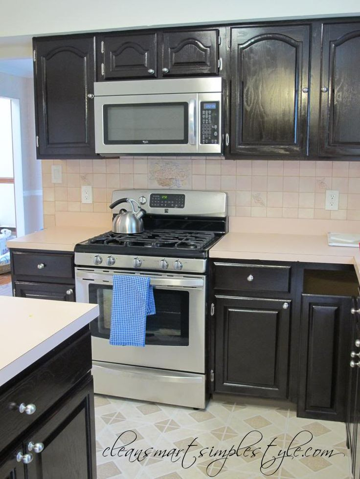 Clean, Smart, Simple Style: Gel Stain Kitchen Makeover ...