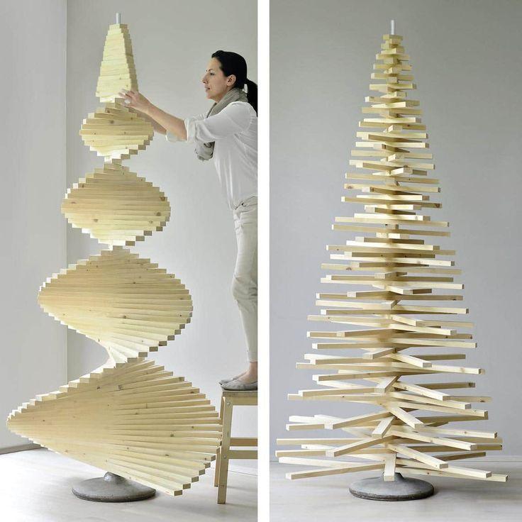 Diy weihnachtsbaum aus holzlatten muttis n hk stchen for Pinterest weihnachtsbaum