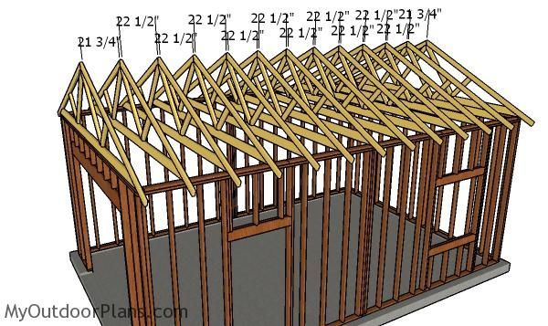 16x24 Detached Garage Plans Myoutdoorplans Free Woodworking Plans And Projects Diy Shed Wooden Playh Garage Plans Detached Garage Plans Diy Garage Plans