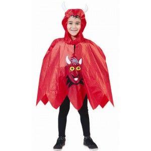 Déguisement diable enfant, Déguisement cape diable rouge enfant avec cornes de diable, Costume Halloween enfant, fêtes.