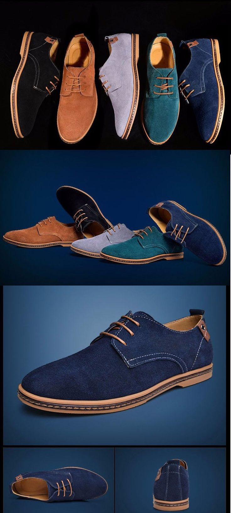 Comfort and fashion, men's casual leather shoes  These shoes are sweat-absorbent, light, breathable, anti-odor