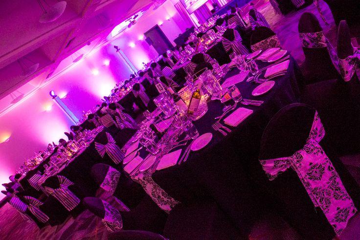 Black & white themed Gala Dinner in Canberra.