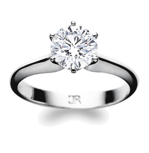 Parisienne is a classic 6 claw diamond solitaire, with delicately scalloped and tapered shank. Available in 18 carat white gold, yellow gold or platinum. We