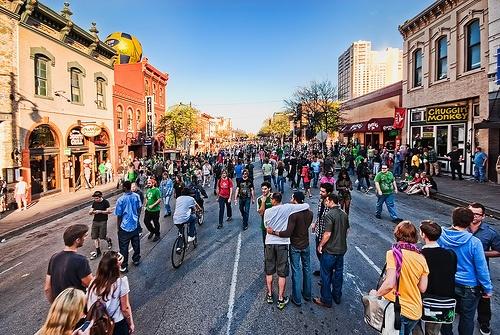 SXSW 6th Street, Austin Texas by Visualist Images, via FlickrVisualist Image, Sixth Street, Affordable Weekend, Forex News, Places, Sxsw 6Th, Austin Tx, Parties Time, Austin Texas 6Th Street