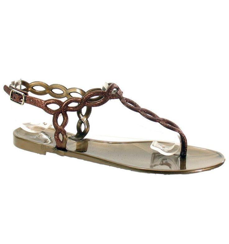 DIZZY Tangles Bronze Womens Sandals