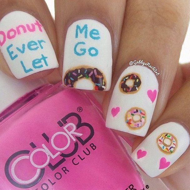 Donut Ever Let Me Go // Doughnut Nail Art Ideas
