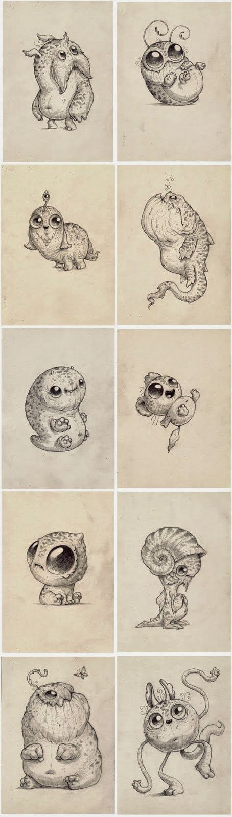 Baby monsters by Chris Ryniak | http://chrisryniak.tumblr.com/