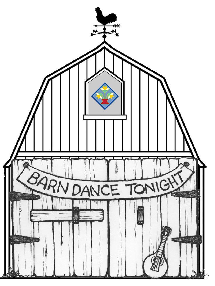 barn dance coloring pages - photo#4