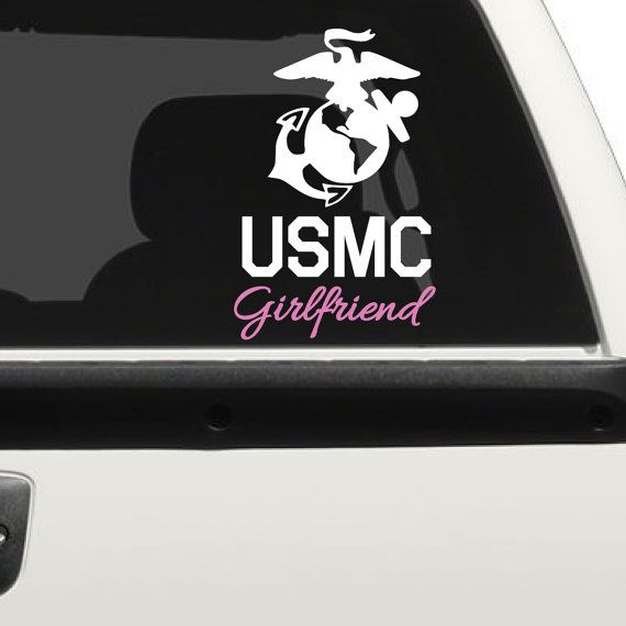 Marine Core Girlfriend Car Decal (1998-CAR)