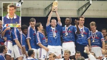 Zidane anoto dos goles en la final de Francia 98