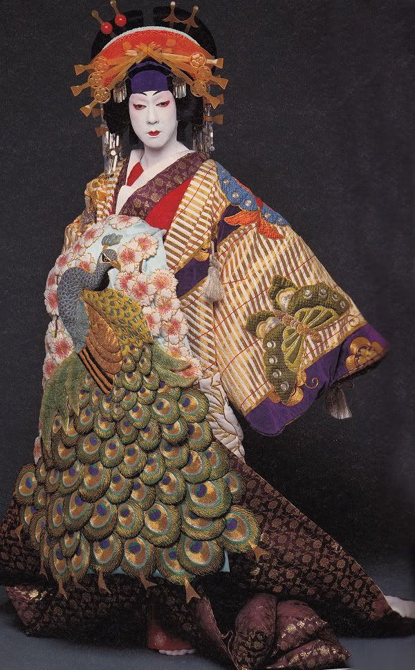 Bando Tamasburo, Male Kabuki legend. Photo by Kishin Shinoyama. Despite being founded by a Miko (a female shaman), called Izumo no Ikuni, Kabuki actors are now all men. S)