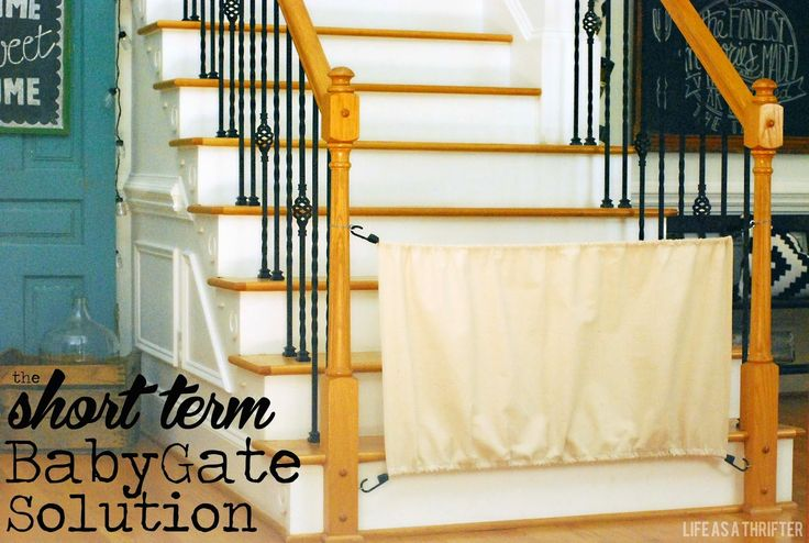 the Short Term Baby Gate via Life as a Thrifter  #babygate