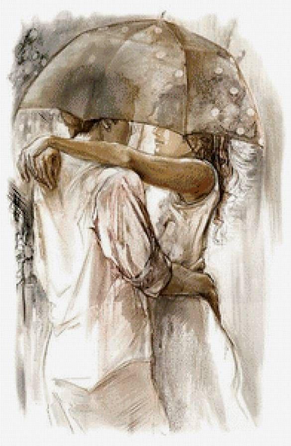Картина для вышивания крестиком двое