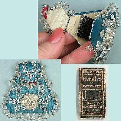 Antique Beaded Silk Needle Case * English * Circa 1890