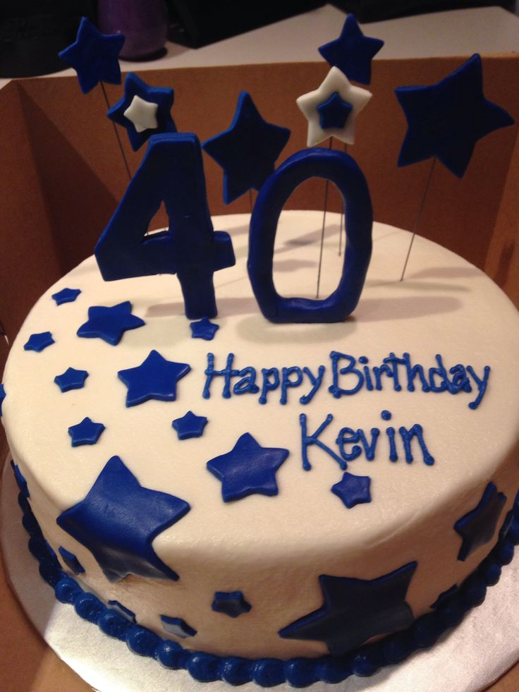 Happy 40th Birthday Cake For A Man