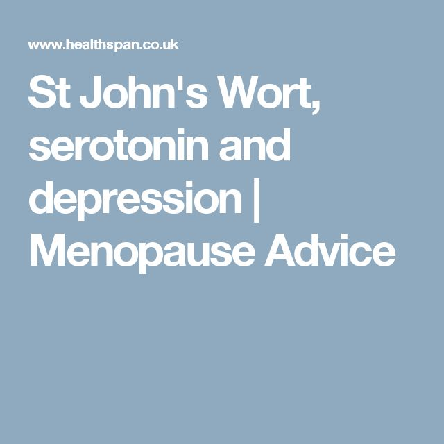 St John's Wort, serotonin and depression | Menopause Advice