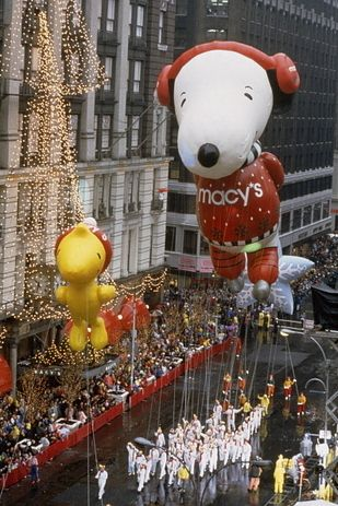 Macy's Thanksgiving Day Parade in New York City: Snoopy has been the most featured character in the Parade, and first appeared in 1968.