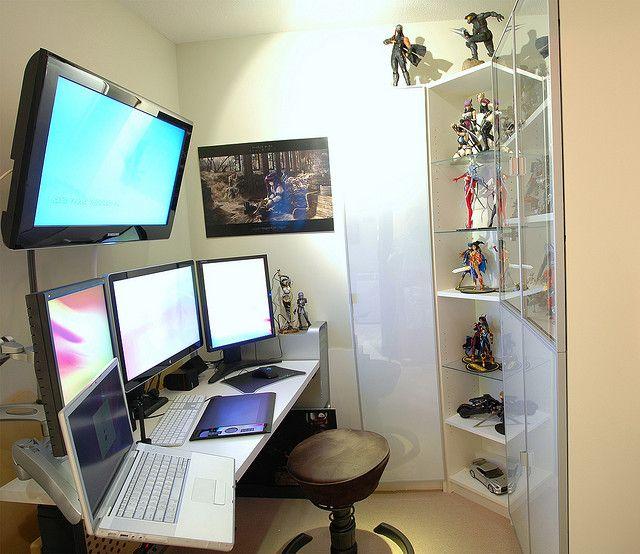 3 Monitor And Tv Setup Workstation Inspiration