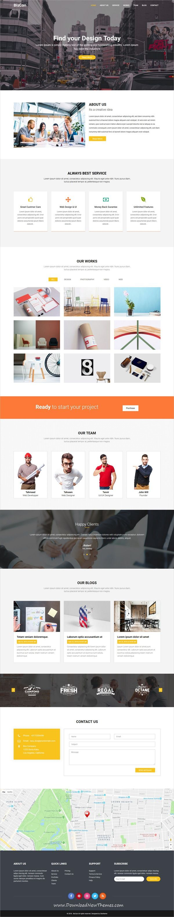 Bizcan is clean and modern design 3in1 responsive bootstrap #HTML #template for onepage #creative business #agency website to live preview & download click on image or Visit