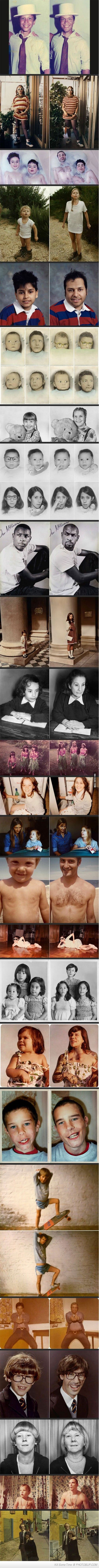 Then And Now Photos Compilation