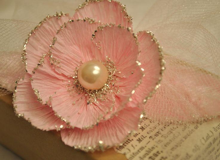 Crepe Paper Flower W Glitter Artful Affirmations Free