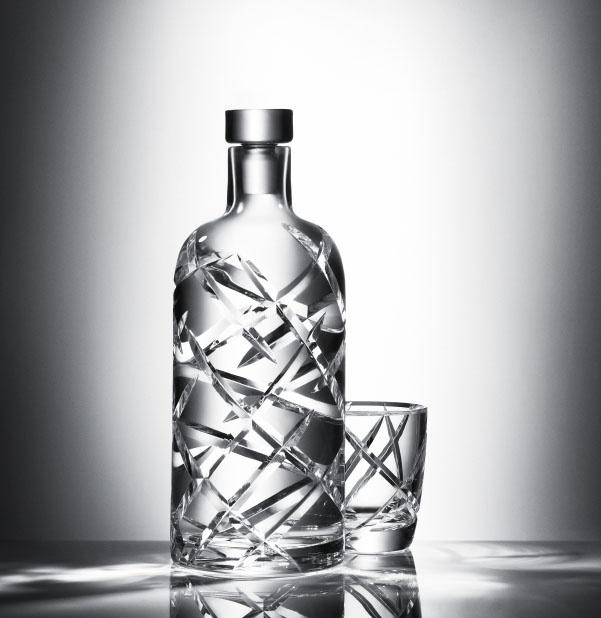 Absolut Vodka Limited Edition Crystal Pinstripe Bottles.
