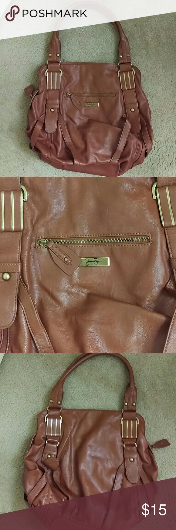 Jessica Simpson Hobo Bag Great condition. Does have some pen ink stains on the inside but only on the inside. Smoke and pet free home. Super cute and roomy. C Jessica Simpson Bags Hobos