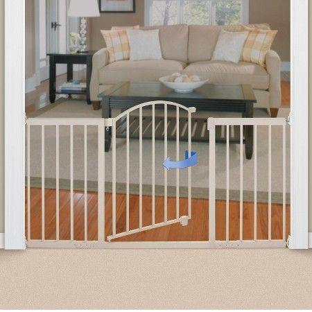 Summer Infant® Walk Thru Extra Wide Expansion Baby Gate (Beige Metal) : Target